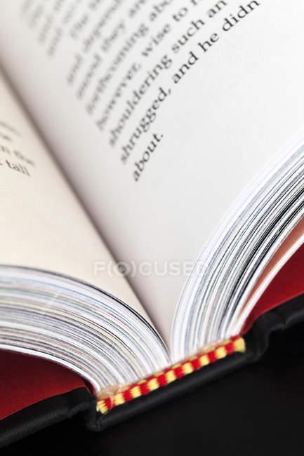 Colpo di fotogramma pieno di libro aperto — Foto stock