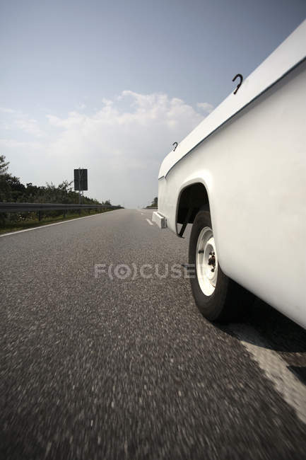 Ar driving on multiple lane highway — Stock Photo