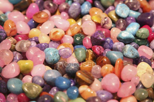 Full frame shot of polished gemstones — Stock Photo