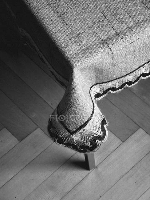 High angle view detail of fabric on a table — стоковое фото