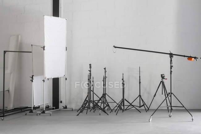 Photographic equipment placed in photography studio — Stock Photo