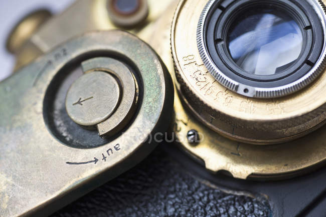 Close-up of old vintage camera — Stock Photo