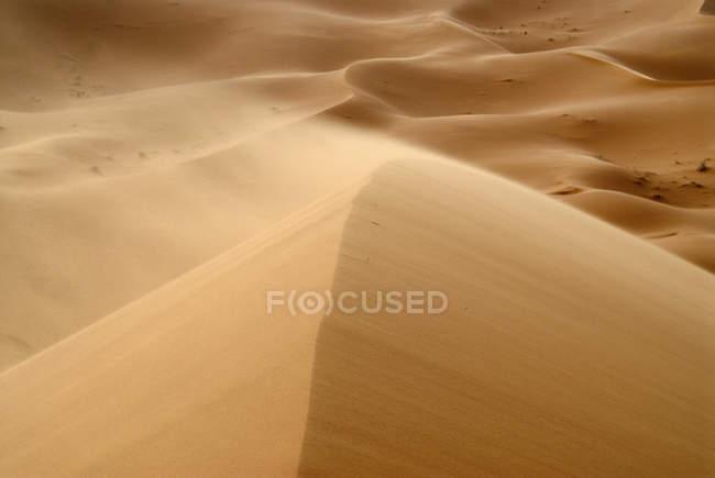 Blick auf Sanddünen in der Wüste Erg Chebbi, Marokko — Stockfoto