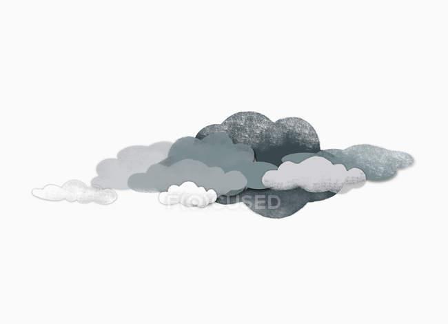 Иллюстрация тучи над белый фон — стоковое фото