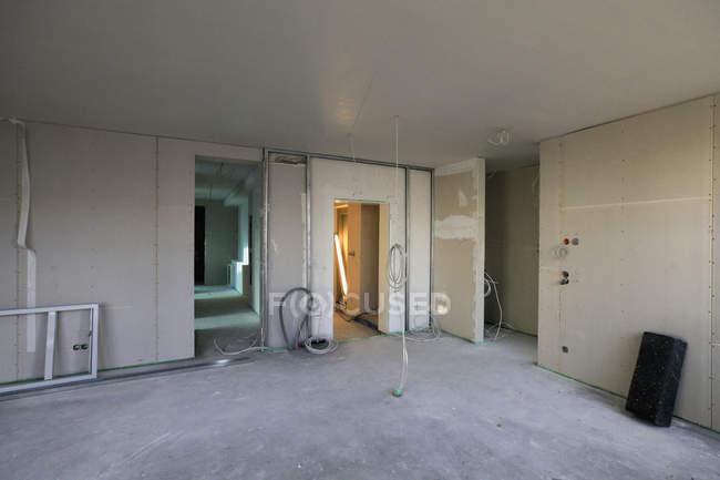 Внутрішній вигляд приміщень під реконструкцію — стокове фото
