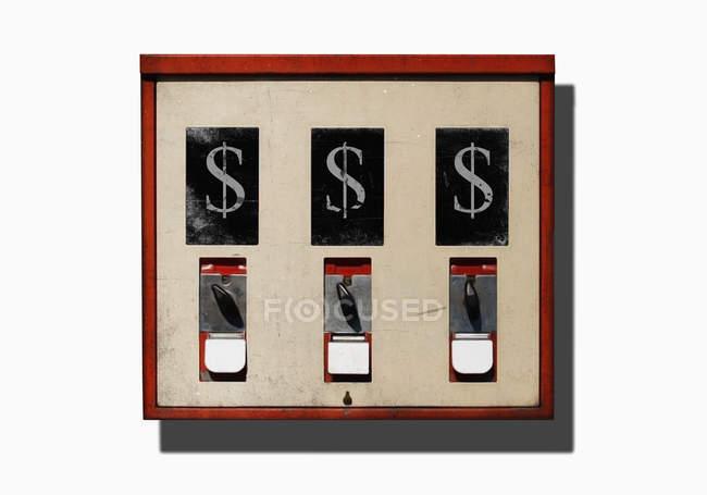 Illustration de dollars signe sur la distributeur automatique console — Photo de stock