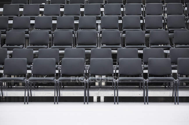 Rows of empty chairs at seminar hall — Stock Photo