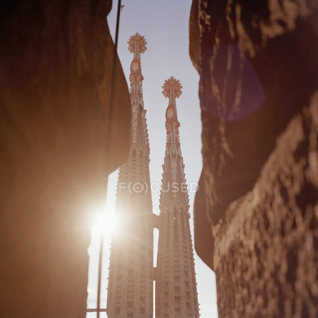 Detail of towers of La Sagrada Familia, Barcelona, Spain — Stock Photo