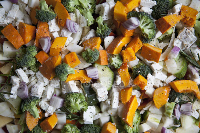 Крупным планом вид овощной салат ингредиенты — стоковое фото