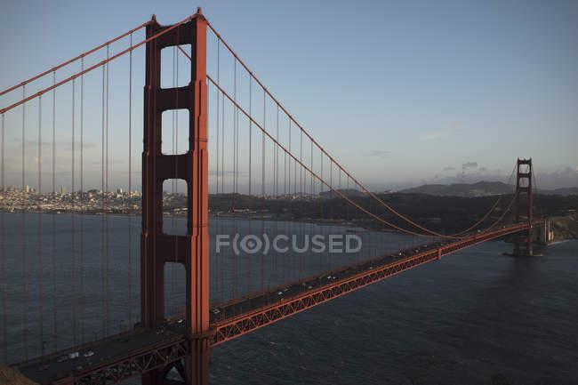 Vista aérea da Ponte Golden Gate ao entardecer — Fotografia de Stock