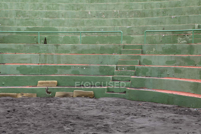 Detail of seats at sports arena — Stock Photo