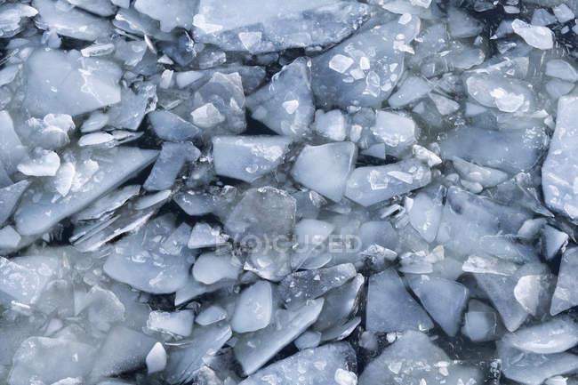 Full frame shot of ice floating on river — Stock Photo