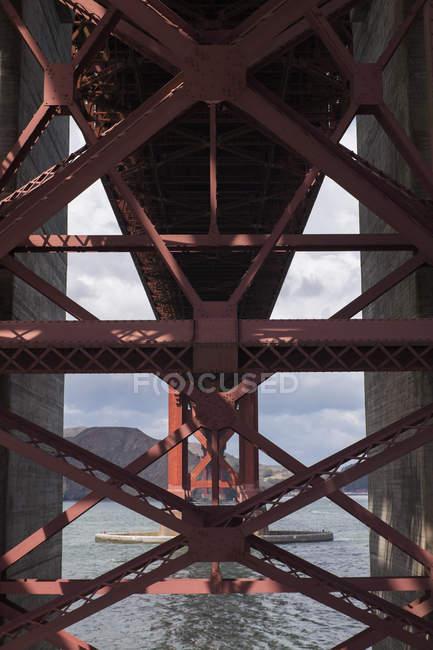 Dettaglio architettonico del Golden Gate Bridge — Foto stock