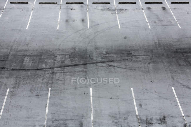 High angle view of empty parking lots — Stock Photo