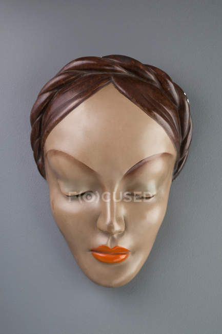 Mannequin head over grey background — Stock Photo