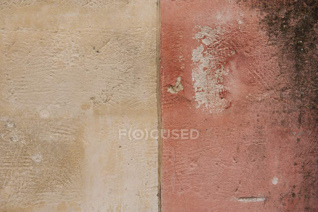 Close up view of weathered painted wall — Stock Photo