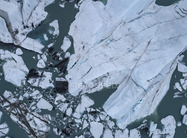 Directly above view of glacier lagoon — Stock Photo