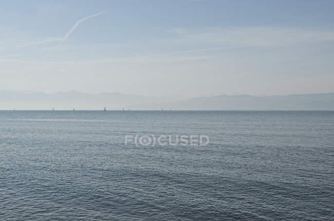 Malerischer Blick auf das Meer gegen den Himmel — Stockfoto
