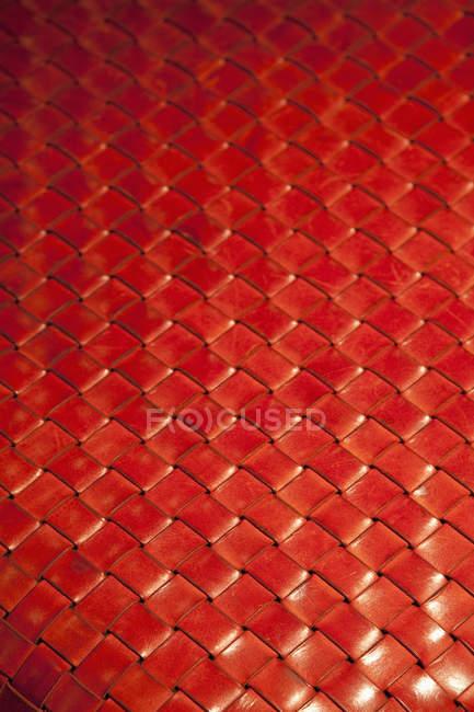 Повний кадр постріл червоним ткані червоними шкіряними — стокове фото