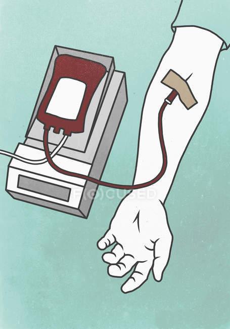 Illustration représentant la loi du don de sang — Photo de stock