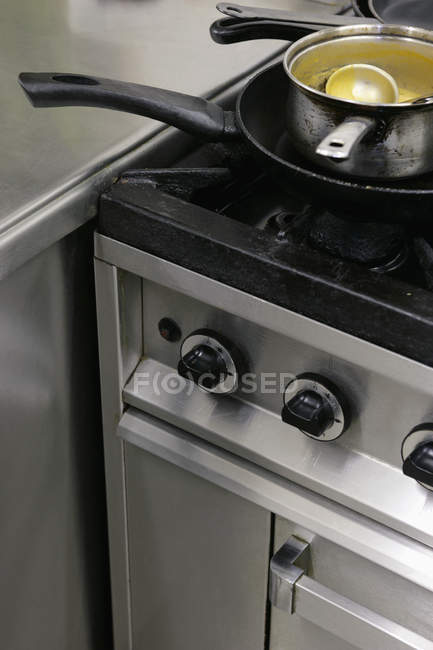 High angle view of industrial stove — Stock Photo