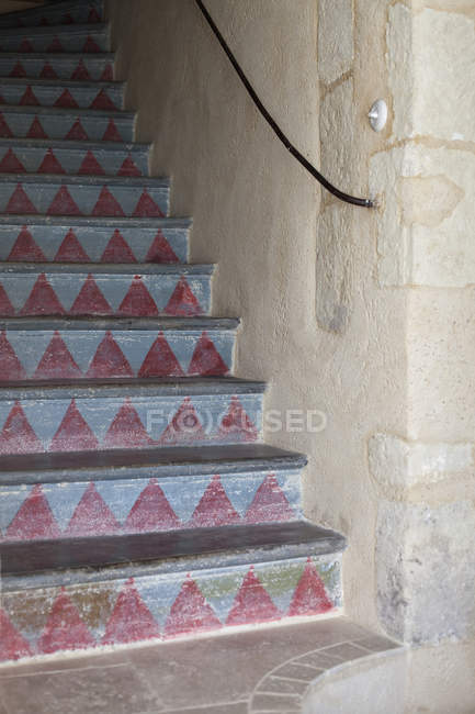 Cropped image of tiled staircase — Stock Photo