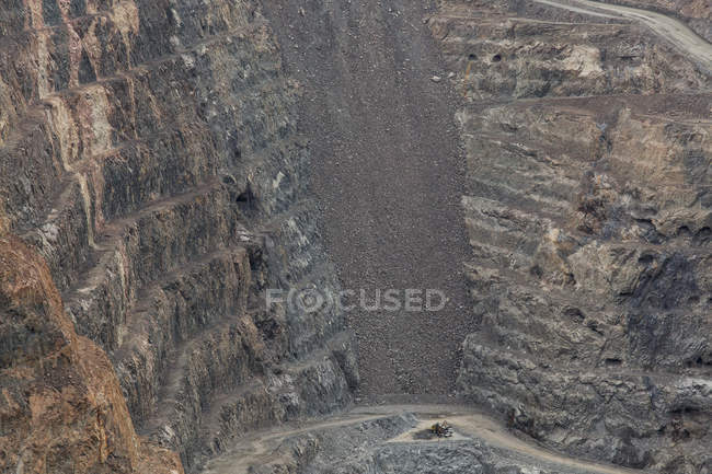 High angle view of open-pit mine — Stock Photo