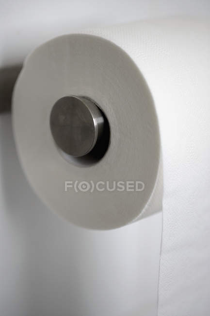 Close up view of roll of toilet paper — Stock Photo