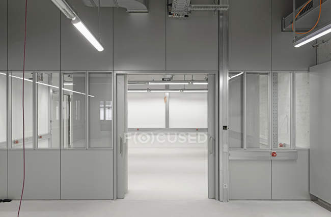 Interior of empty office space under construction — Stock Photo