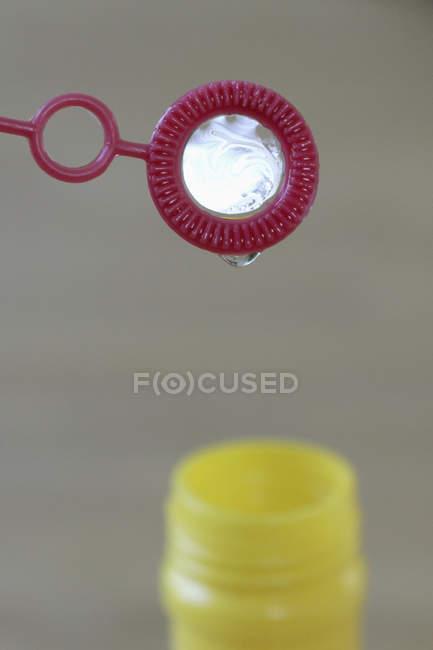 Nahaufnahme der Blase Wand und Flasche — Stockfoto