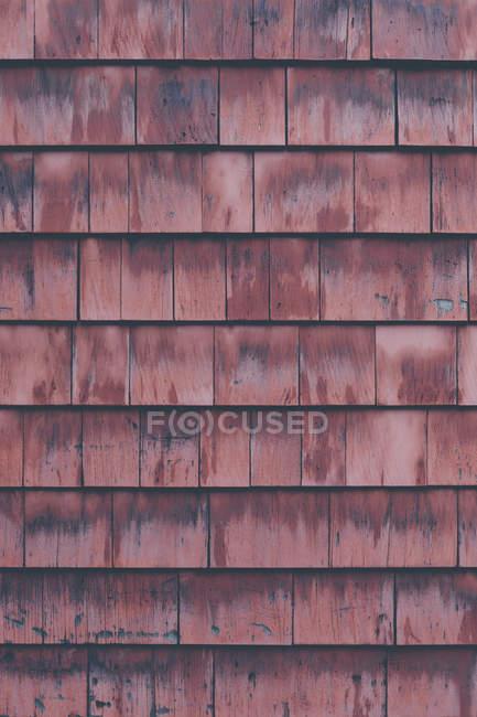 Disparo de fotograma completo de pared de madera marrón - foto de stock