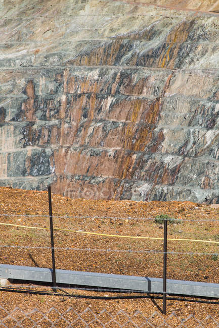 View of open-pit mine on sunny day — Stock Photo