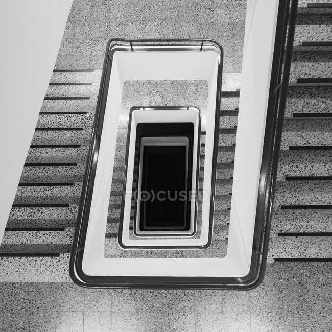 Directly above view of staircase in building — Stock Photo