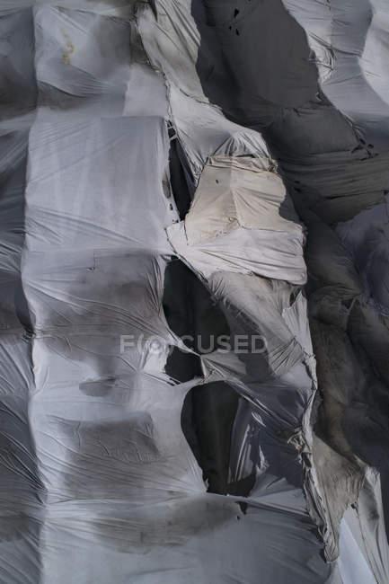 Colpo di telaio completo di telone strappato — Foto stock