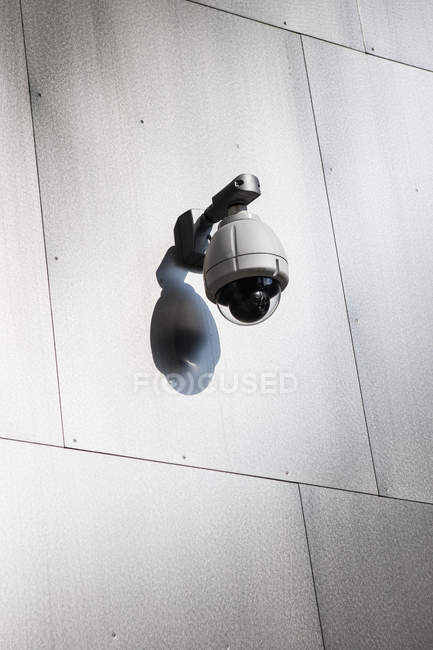 Security camera mounted on wall — Stock Photo
