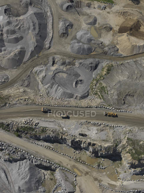 Plan aérien plein cadre de la mine à ciel ouvert — Photo de stock