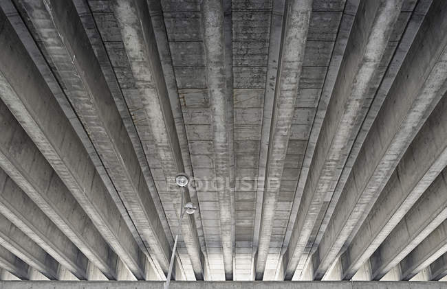 Low angle view of concrete bridge — Stock Photo