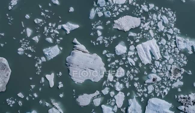 High angle view of ice in lagoon — Stock Photo
