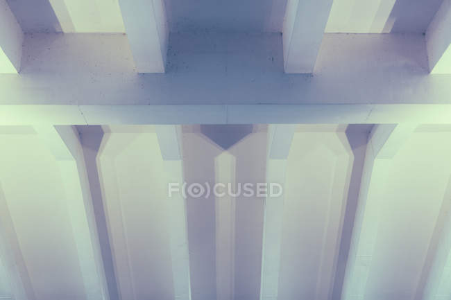 High angle view of modern building interior ceiling — Stock Photo