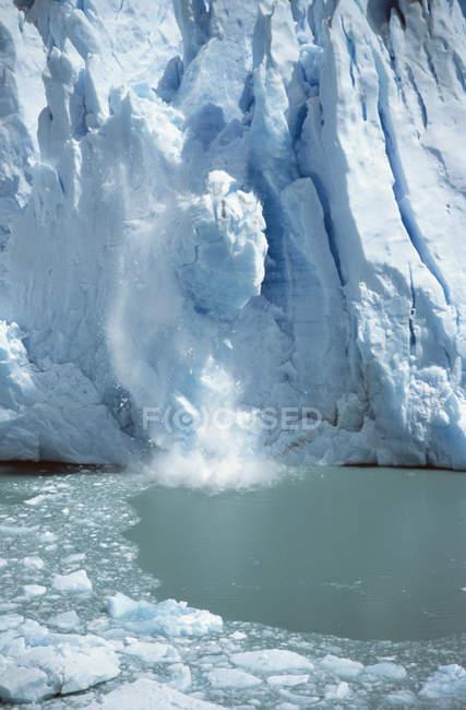 Vista panorâmica do gelo a partir do glaciar — Fotografia de Stock