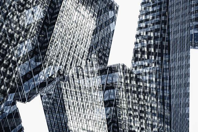 Multi-layered shot of skyscraper facades — Stock Photo