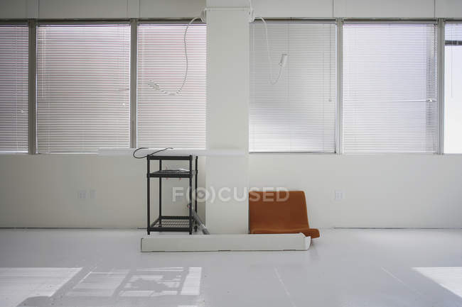 White sunlit empty office room — Stock Photo