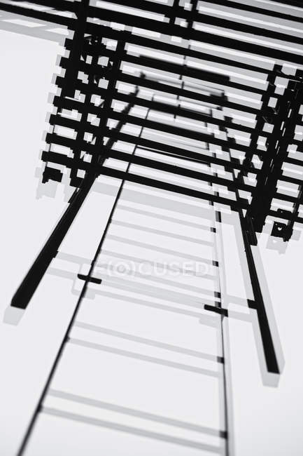 High angle view of  fire escape ladder — Stock Photo