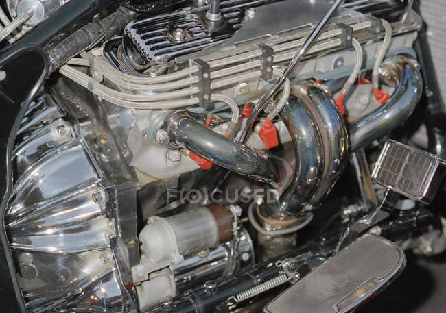 Full frame shot of shiny car engine — Stock Photo