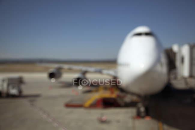 Нечеткость зрения придает трапа «джамбо» jet — стоковое фото