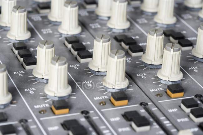 Close up of sound mixer — Stock Photo
