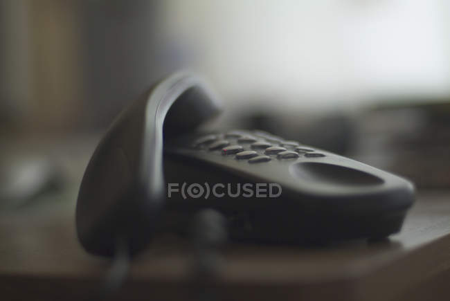 Telephone with receiver of hook — Stock Photo