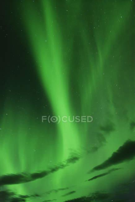 Hellen Nordlichter am Nachthimmel — Stockfoto