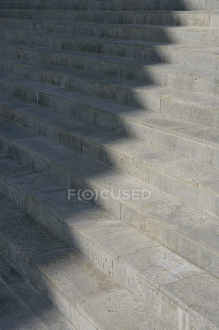 Sunlight and shadow on concrete steps — Stock Photo