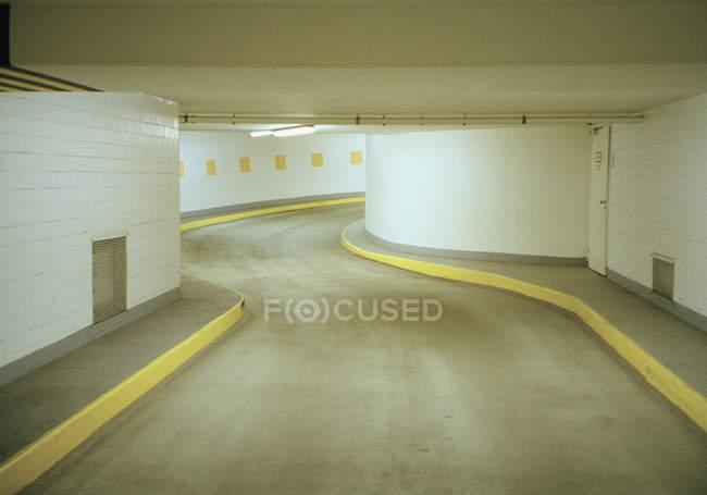 Ramp through underground car park — Stock Photo